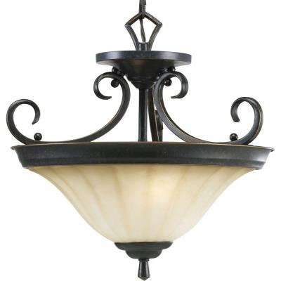 Progress Lighting P2841-84 Le Jardin - Two-Light Ceiling Fixture