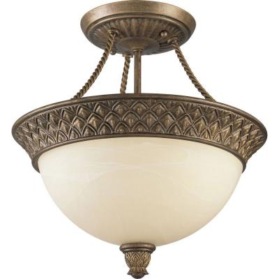 Progress Lighting P3541-86 Savannah - Two Light Semi-Flush Mount
