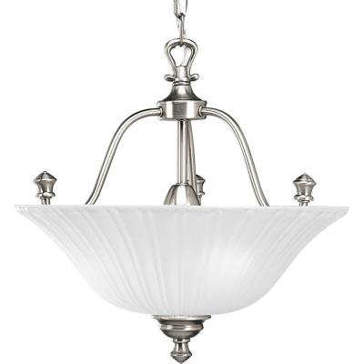 Progress Lighting P3607-81 Three-Light Semi-Flush Fixture