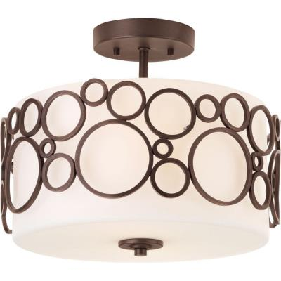 Progress Lighting P3741-74 Bingo - Two Light Semi-Flush Mount
