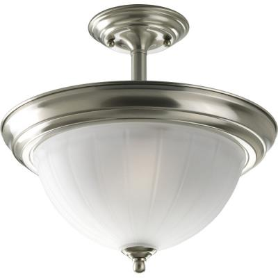 Progress Lighting P3876-09 Melon - Two Light Semi-Flush Mount
