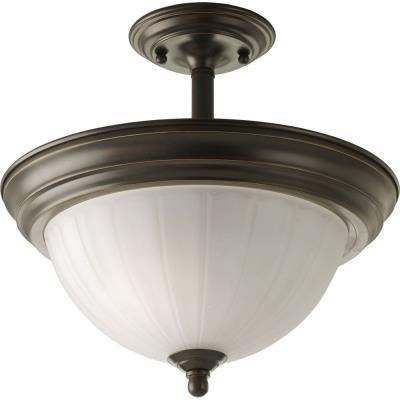 Progress Lighting P3876-20 Melon - Two Light Semi-Flush Mount