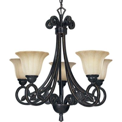Progress Lighting P4201-84 Le Jardin 5 Light Chandelier