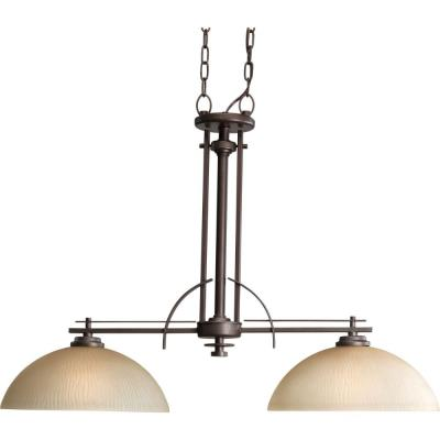 Progress Lighting P4229-88 Two-Light Linear Chandelier Fixture - Chandelier
