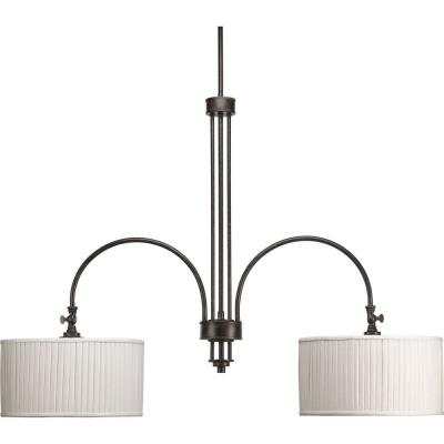 Progress Lighting P4400-84 Clayton - Two Light Stem Mount Linear Chandelier - Chandelier