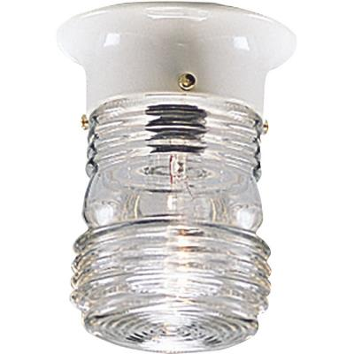 Progress Lighting P5603-30 Utility - One Light Outdoor Flush Mount