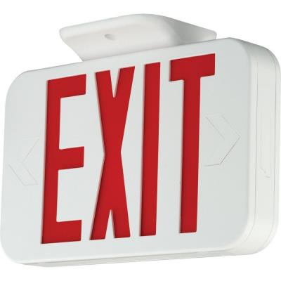Progress Lighting PE008-30 Exit Sign with Red Colored Letters