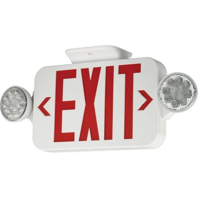 Progress Lighting PE010-30 Exit Sign with Red Colored Letters