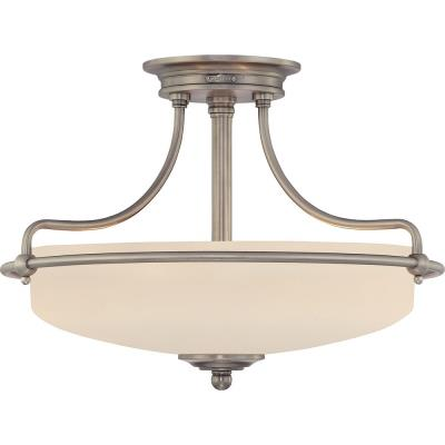 Quoizel Lighting GF1717 Griffin - Three Light Semi-Flush Mount