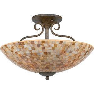 Monterey Mosaic - Four Light Semi-Flush Mount