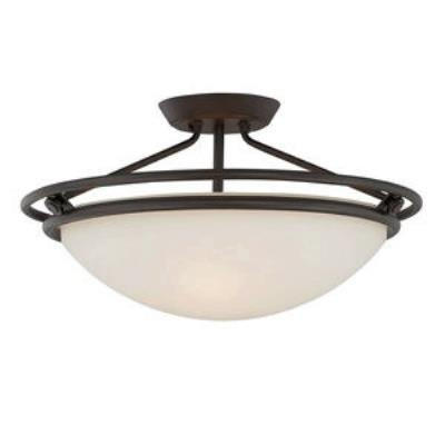 Quoizel Lighting QF1202SWT Ashland - Three Light Semi-Flush Mount