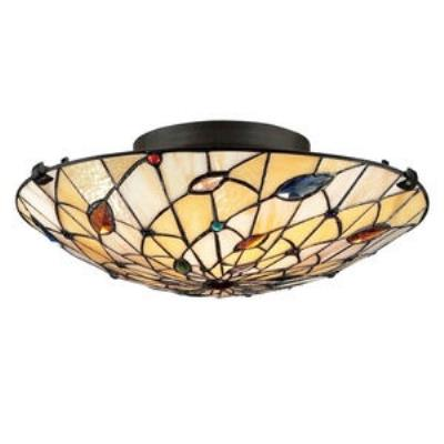 Quoizel Lighting TF1409SVB Graham - Two Light Semi-Flush Mount