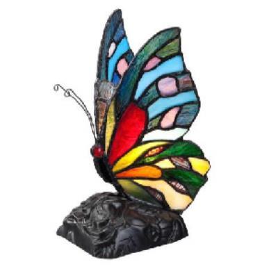 Quoizel Lighting TFX1518T Rainbow Butterfly - One Light Desk Lamp