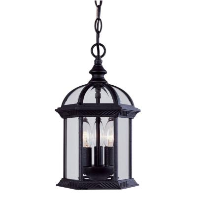 Savoy House 5-0635-BK Kensington - Three Light Outdoor Hanging Lantern