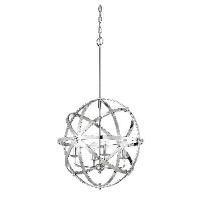 Savoy House 7-4353-4-CH Dias Orb - Four Light Pendant