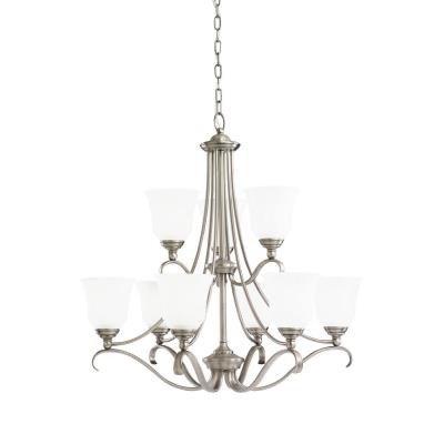 Sea Gull Lighting 39381BLE-965 Nine-Light Fluorescent Chandelier