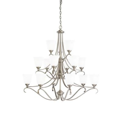 Sea Gull Lighting 39382BLE-965 15-Light Fluorescent Chandelier
