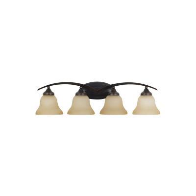 Sea Gull Lighting 44177 Brockton - Four Light Bath Bar