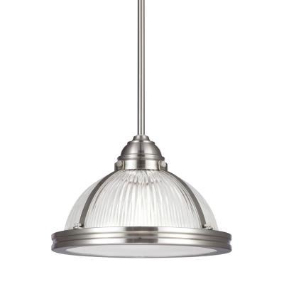 """Sea Gull Lighting 65060BLE-962 Pratt Street - 11"""" One Light Pendant with Bulb Included"""