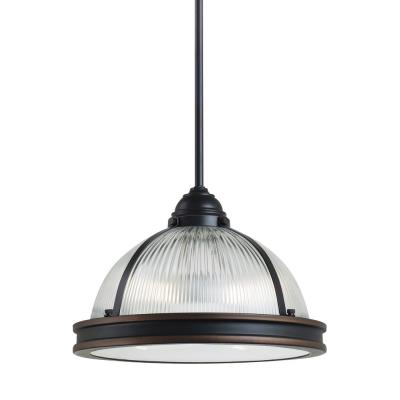 "Sea Gull Lighting 65061BLE-715 Pratt Street - 12.75"" Two Light Pendant with Bulbs Included"