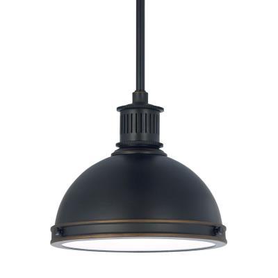 """Sea Gull Lighting 65085BLE-715 Pratt Street - 9.5"""" One Light Pendant with Bulb Included"""