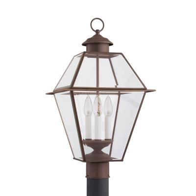 Sea Gull Lighting 8258-71 Three-Light Colony Post Outdoor