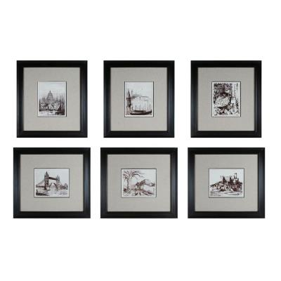 "Sterling Industries 10016-S6 21.5"" Etchings Wall Art - (Set of 6)"