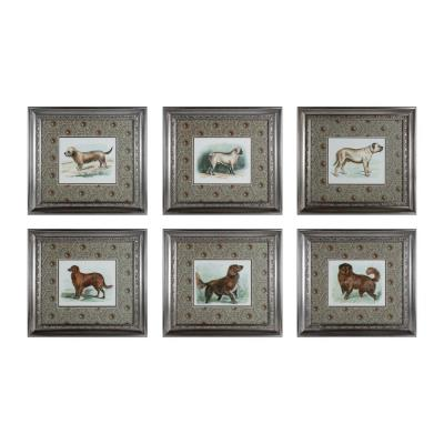 "Sterling Industries 10052-S6 20"" Classic Dogs Wall Art - (Set of 6)"