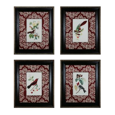"Sterling Industries 10058-S4 37.75"" Cuvier Exotic Birds Wall Art - (Set of 4)"