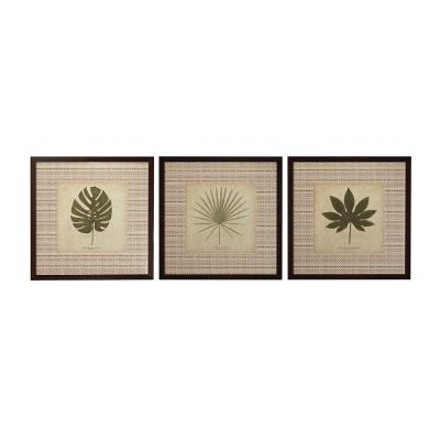"Sterling Industries 10068-S3 35.25"" Leaves Wall Art - (Set of 3)"