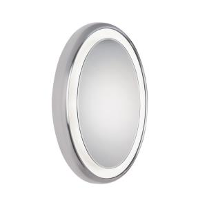 "Tigris - 33.6"" 39.6W 9 LED Oval Recessed Bath Vanity Mirror"