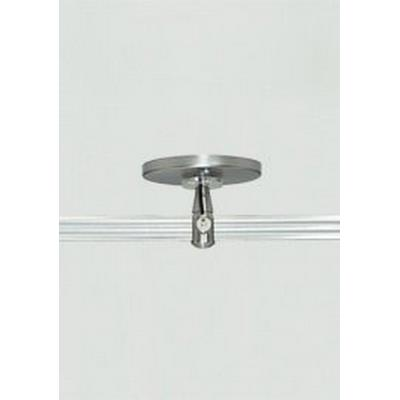 """Tech Lighting 700MO2P4C02 Accessory - 4"""" Round Power Feed Canopy Single Feed Two-Circuit Monorail"""