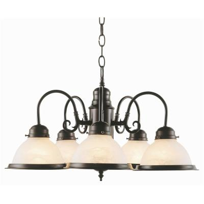 Trans Globe Lighting 1092 Back To Basics - Five Light Chandelier