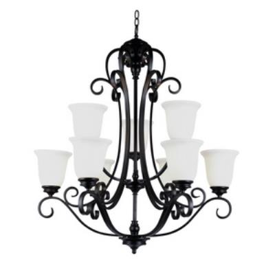 Trans Globe Lighting 21113 ROB Garland II - Nine Light 2-Tier Chandelier