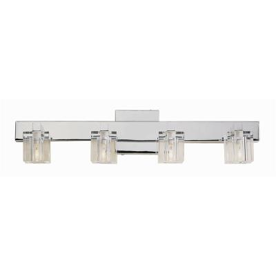 Trans Globe Lighting 2844 Four Light Crystal Bath Bar