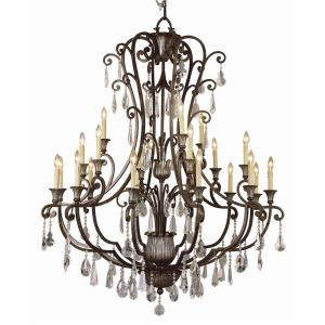 Crystal Flair - Twenty One Light Chandelier with Crystal Accent