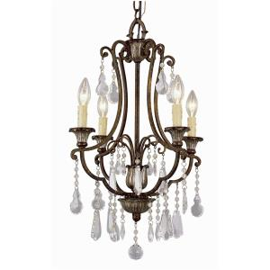 Crystal Flair - Four Light Chandelier with Crystal Accent