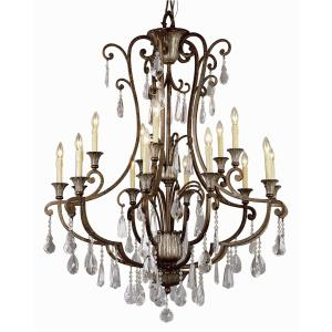 Crystal Flair - Fifteen Light Chandelier with Crystal Accent