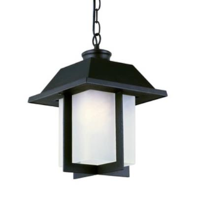 Trans Globe Lighting 40114 BK Pagoda Cap - One Light Outdoor Hanging Lantern