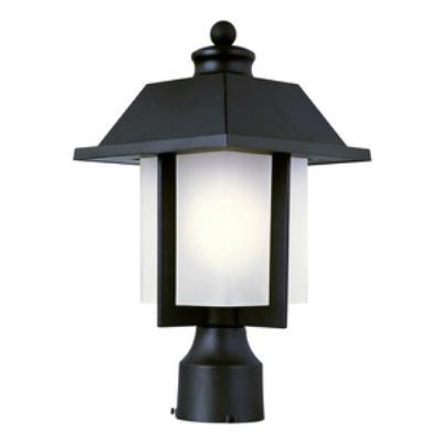 Trans Globe Lighting 40115 RT Pagoda Cap - One Light Outdoor Post