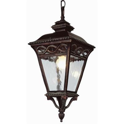 Trans Globe Lighting 50517 BRB Three Light Outdoor Hanging Lantern