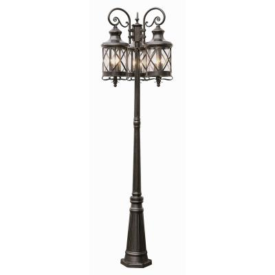 Trans Globe Lighting 5127 ROB Three Light Outdoor Pole
