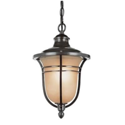 Trans Globe Lighting 5704 Amber Drop One Light Outdoor Hanging Lantern