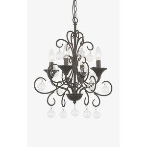 Crystal Ornaments  - Four Light Chandelier