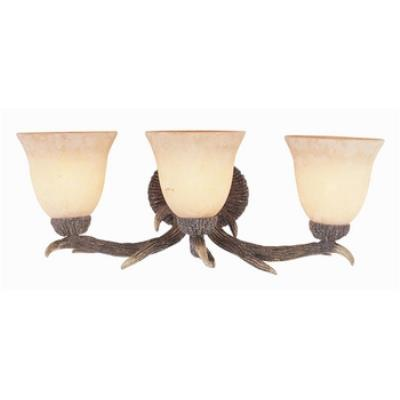 Trans Globe Lighting 7083 Three Light Deer Antler Wall Sconce