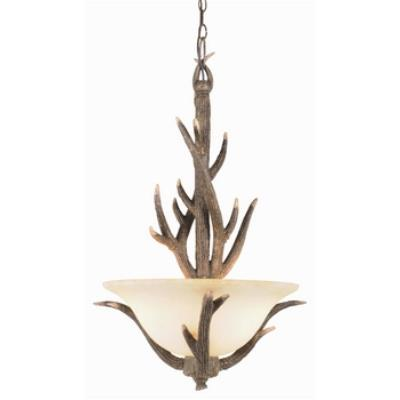 Trans Globe Lighting 7088 Three Light - Deer Antler Pendant