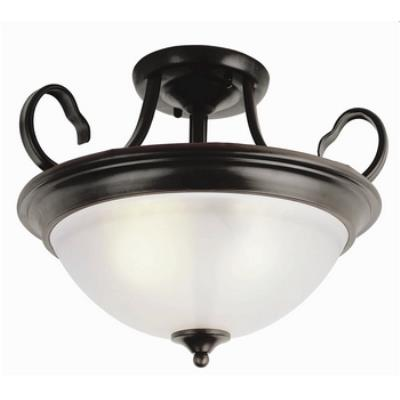 Trans Globe Lighting 7292 Back to Basics - Three Light Semi-Flush Mount