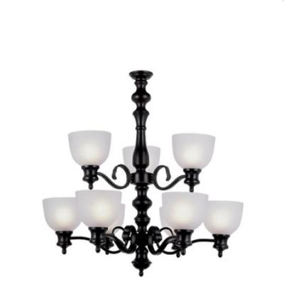 Trans Globe Lighting 7299 Back to Basics - Nine Light Two Tier Chandelier