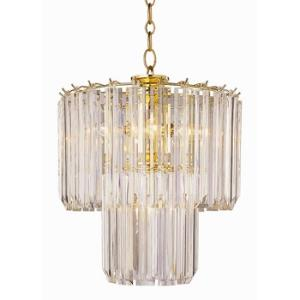 Five Light 2 Tier Acrylic Chandelier
