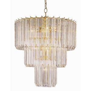 Back to Basics - Nine Light Three Tier Chandelier